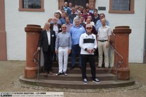 """Teilnehmer des Workshops """"Applied Machine Intelligence 2019"""" im Schloss Dagstuhl."""